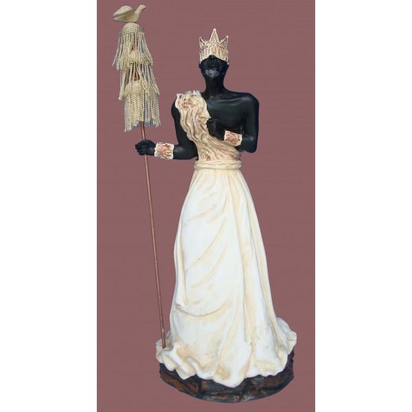 Imagem Oxalá de Marfim em Resina 40cm