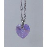 Gargantilha Coração 10mm Violet AB