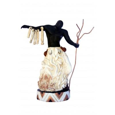 Imagem Exú Marfim em Resina 28cm
