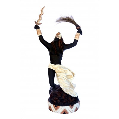 Imagem Iansã Marfim em Resina 28cm