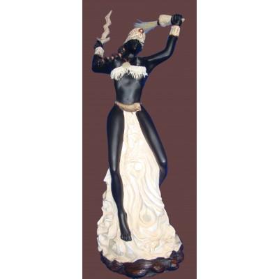 Imagem Iansã de Marfim em Resina 40cm