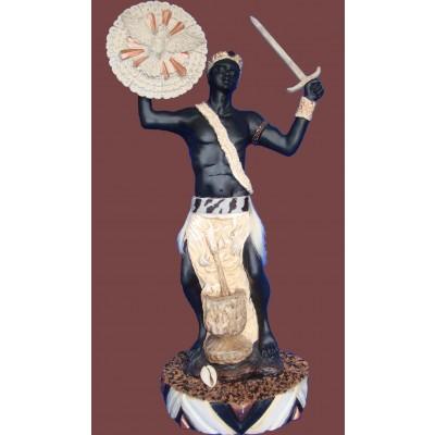 Imagem Oxaguiã de Marfim em Resina 40cm