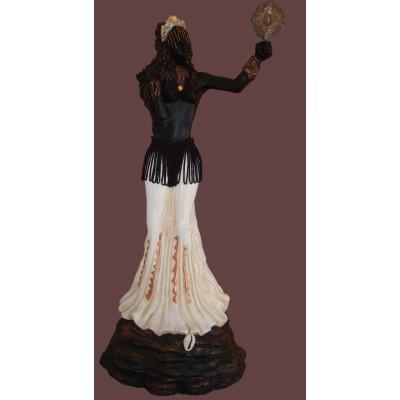 Imagem Oxum de Marfim em Resina 40cm